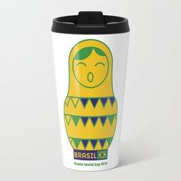 Brasil Matrioska | Russia World Cup 2018 Travel Mug