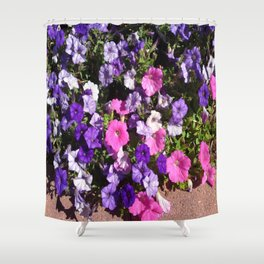 Petunia Patch Shower Curtain