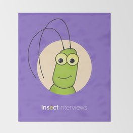 Kevin the Katydid Throw Blanket