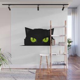 Black cat follow you #society6 #decor #buyart #artprint Wall Mural