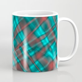 Bright metal mesh with light blue intersecting diagonal lines. Coffee Mug