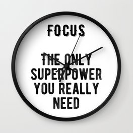 Motivational - Focus Wall Clock