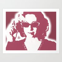 river song Art Prints featuring River Song  by Laura