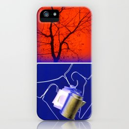 BLUE COLLAGE iPhone Case