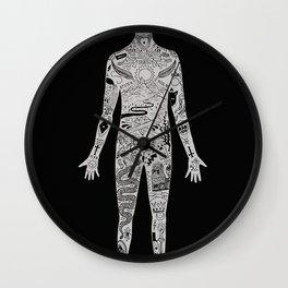 the illustrated man - bradbury Wall Clock