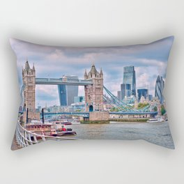 London Tower Bridge Blue Rectangular Pillow