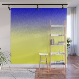 Sky and Sun -- Blue yellow ombre flames Wall Mural