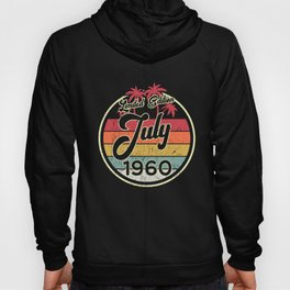 Vintage 80s July 1960 60th Birthday Gift Idea Hoody
