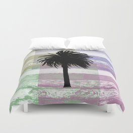 Palm and colors Duvet Cover
