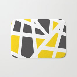 Abstract Interstate  Roadways Gray & Yellow Color Bath Mat