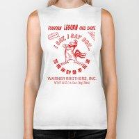 sriracha Biker Tanks featuring Foghorn Leghorn Sauce (Red) by Huemanitee