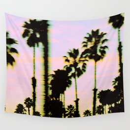 California Dreaming Palm Trees Sunset Wall Tapestry