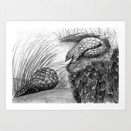 Pangolins Art Print