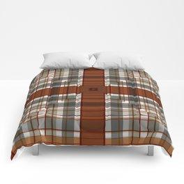 Burnt Sienna Plaid Pattern Comforters