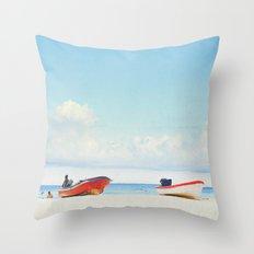 Lonely Skies - Playa del Carmen Throw Pillow