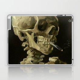 Skull of a Skeleton with Burning Cigarette - Van Gogh Laptop & iPad Skin