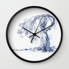 Hedgewitch, Blue Wall Clock
