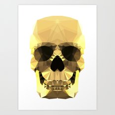 Polygon Heroes - Gold Skull Art Print