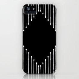 Geo / Black iPhone Case