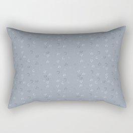 Minimal Pattern :: Blue Triangle Moon Rectangular Pillow