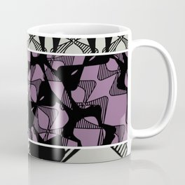 DISTORTION AND PERCEPTION PATTERN  - GREEN & PURPLE Coffee Mug