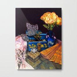 Chinoiserie Love: Charming Nyonya Metal Print