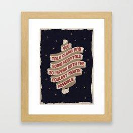 Run The Jewels Lyric Framed Art Print