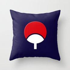 SASUKE UCHIHA CLAN LOGO/NARUTO Throw Pillow