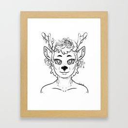 Reindeer Girl Framed Art Print