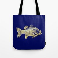 goldfish Tote Bags featuring goldfish by EnglishRose23