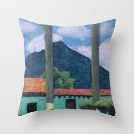 Antigua Park Bench Throw Pillow