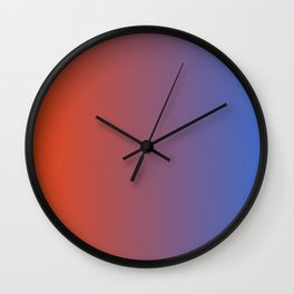 Orange and Blue Wall Clock