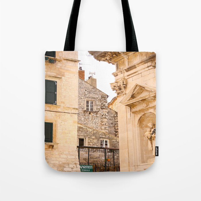 Terrace in Old Town Europe #decor #society6 Tote Bag