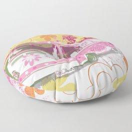 girl camper Floor Pillow