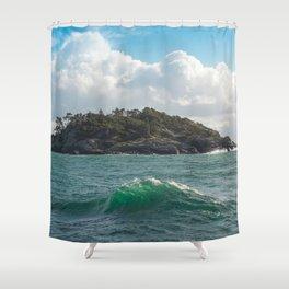 PORTRAIT OF SECRETARY ISLAND, BC TROPICS 2K16 Shower Curtain