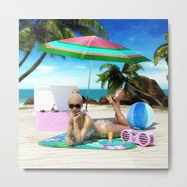 Beach Bunny Metal Print