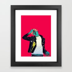 Removing the mask Framed Art Print