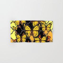 BLACK-GOLDEN YELLOW BUTTERFLIES ART Hand & Bath Towel