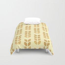 Golden geometric knit inspired Duvet Cover