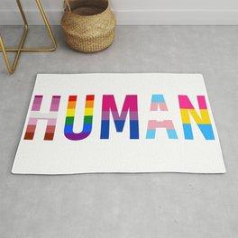 HUMAN LGBT pride flags Rug