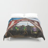 welcome Duvet Covers featuring Welcome by Chase Jackson