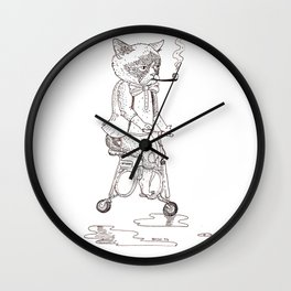 The Grumpy Ride Wall Clock