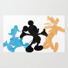 DISNEY MICKEY MOUSE: THE MAGIC TRIO DONALD MICKEY & GOOFY Rug