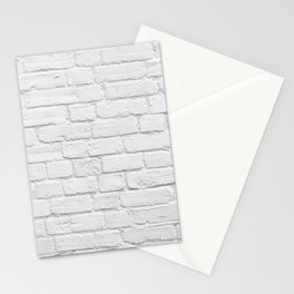 White Brick Wall Stationery Cards