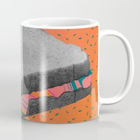fat Mugs featuring Fat Sandwich by Calepotts