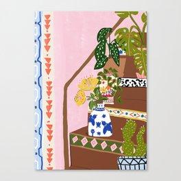 Bohemian stairs Canvas Print