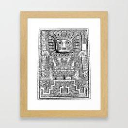 Sun gate - Teotihuacan - Tiahuanaco -Tiwanaku - Pre-Columbian cultures - Bolivia Framed Art Print