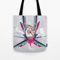 lucy Tote Bags featuring LUCY by Stéphanie Brusick / Art by shop