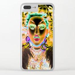 Ru Paul Drag Race Queen Thunderfuck Clear iPhone Case