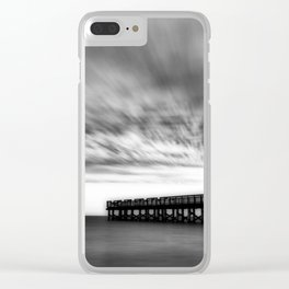 Moody days of winter Clear iPhone Case